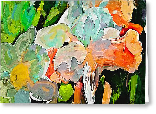 Flower Abstract Greeting Card by Yury Malkov