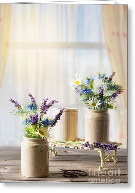 Flower Arrangements Greeting Card by Amanda Elwell