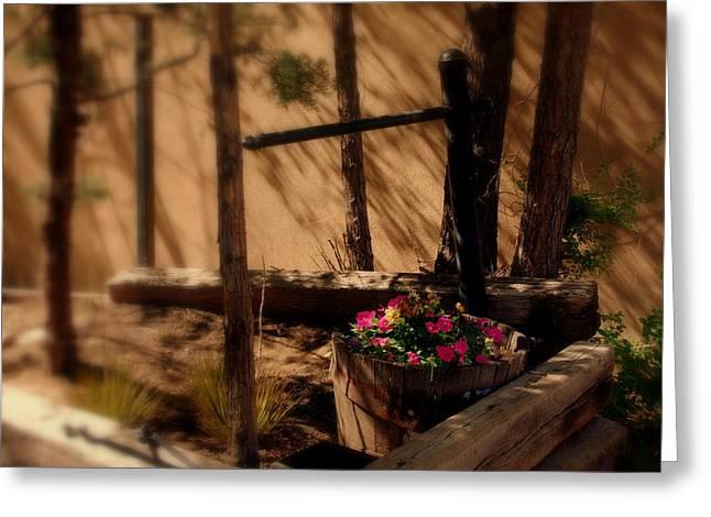 Botanical Greeting Cards - Flower Basket Greeting Card by Susanne Van Hulst