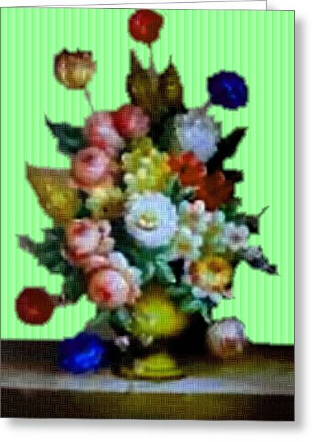 Cellphone Greeting Cards - Flower Bouquet Catus 1 no. 4 V b Greeting Card by Gert J Rheeders