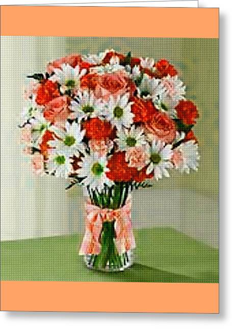 Commercial Photography Pastels Greeting Cards - Flower Bouquet Creations Catus 1 no.1 H B Greeting Card by Gert J Rheeders