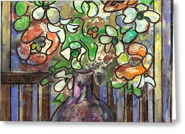 Flower Burst Greeting Card by Ethel Vrana