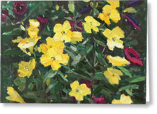 Modern Russian Art Greeting Cards - Flower Carpet Greeting Card by Juliya Zhukova
