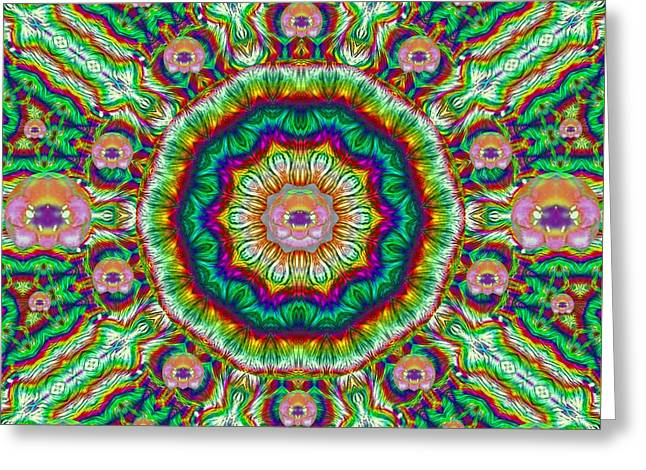 Flower Chakra Of Healing Floral Greeting Card by Pepita Selles
