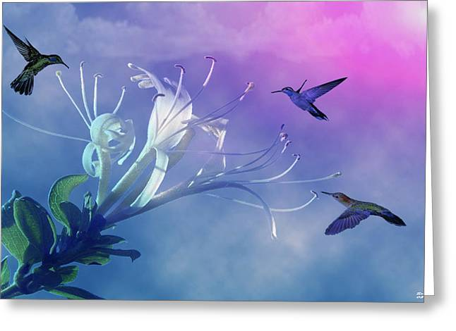 Clouds Pastels Greeting Cards - Flower  Greeting Card by Evelyn Patrick