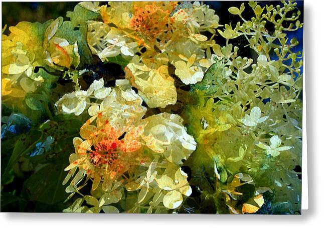 White Paintings Greeting Cards - Flower Fantasy Greeting Card by Hanne Lore Koehler