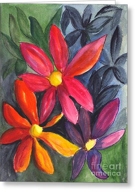 Get Well Card Framed Prints Greeting Cards - Flower Festival Greeting Card by Carol Wisniewski