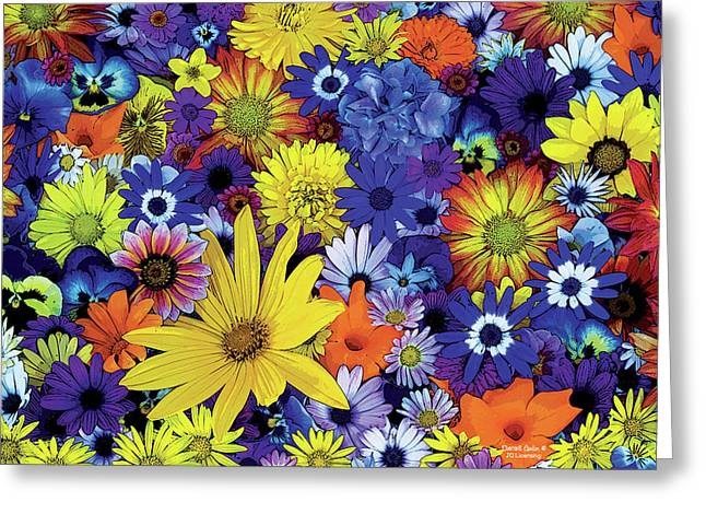 Decorative Greeting Cards - Flower Garden 1 Greeting Card by JQ Licensing