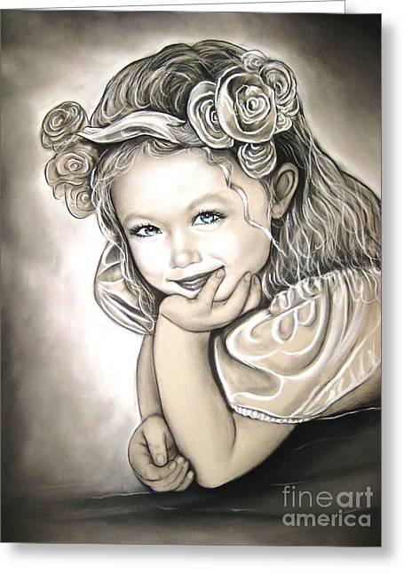 Anastasis Anastasi Greeting Cards - Flower Girl Greeting Card by Anastasis  Anastasi