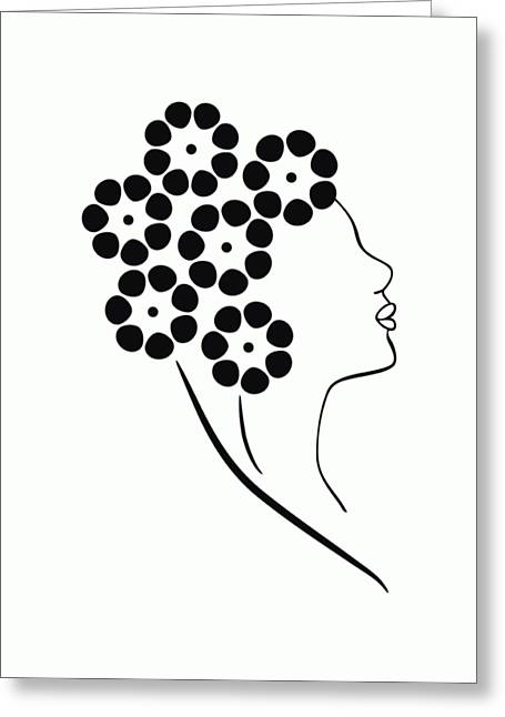 Flower Girl Greeting Card by Frank Tschakert