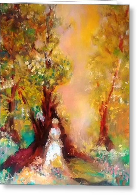 Flower Girl Greeting Card by Patricia Taylor