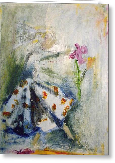Recently Sold -  - Dancing Girl Greeting Cards - Flower Girl Greeting Card by Rae Broyles