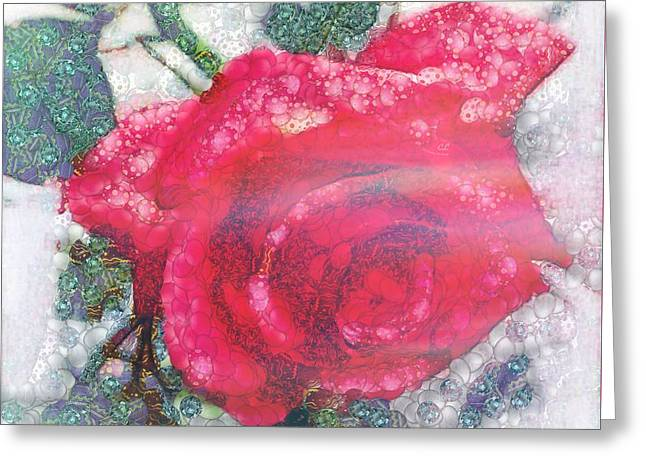 Print On Canvas Greeting Cards - Flower In The Mix Greeting Card by Catherine Lott