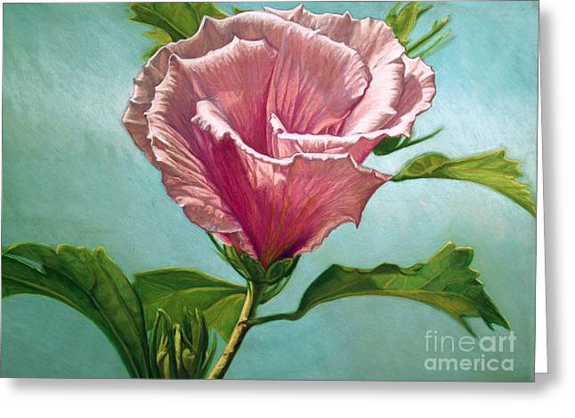 Petals Pastels Greeting Cards - Flower In The Sky Greeting Card by Melissa Tobia