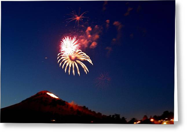 Pyrotechnics Greeting Cards - Flower in the Sky Greeting Card by Tammie McKinnon