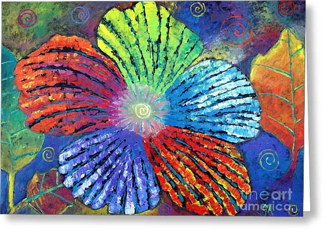 Flower Of A System Greeting Card by Jeremy Aiyadurai