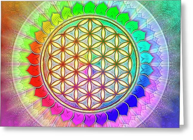 Flower Of Live - Rainbow Lotus 2 Greeting Card by Dirk Czarnota