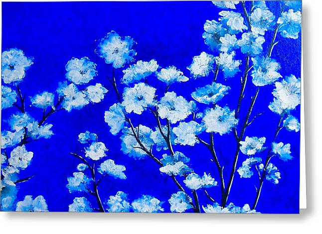 Bedroom Art Greeting Cards - Flower Painting - Plum Blossom Greeting Card by Jan Matson