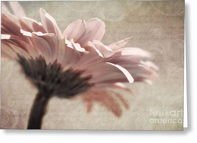 Warm Tones Greeting Cards - Flower Poetry Greeting Card by Viaina