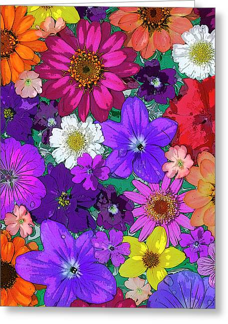 Flower Greeting Cards - Flower Pond Vertical Greeting Card by JQ Licensing