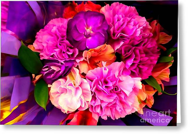 Floral Digital Art Greeting Cards - Flower Power #8 Greeting Card by Ed Weidman