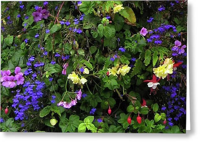 Flower Power Greeting Card by Kurt Van Wagner