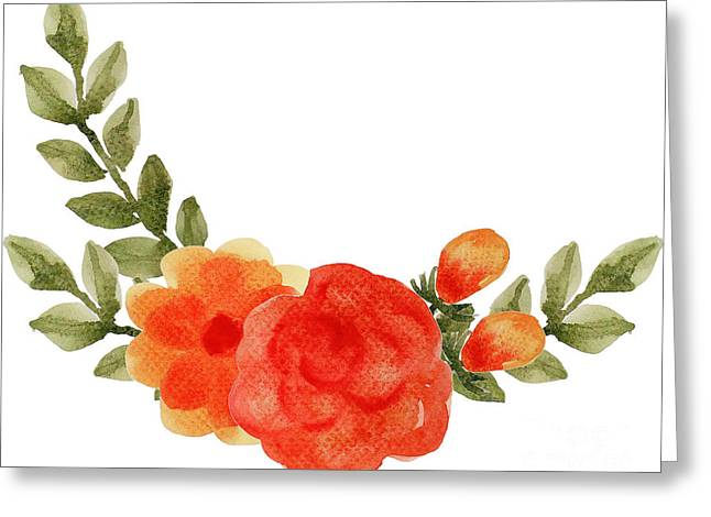 Flower Greeting Card by Rasirote Buakeeree