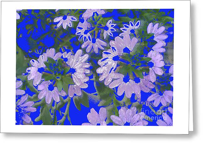 Layer Greeting Cards - Flower Reduction Greeting Card by Alan M Thwaites
