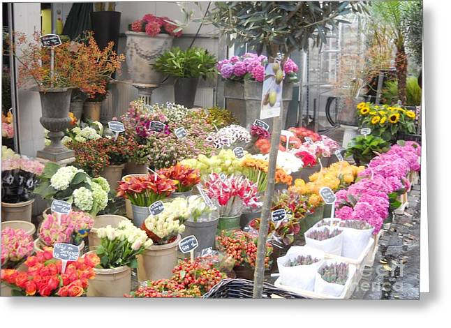 Flower Shop Amsterdam Greeting Card by Reina Resto