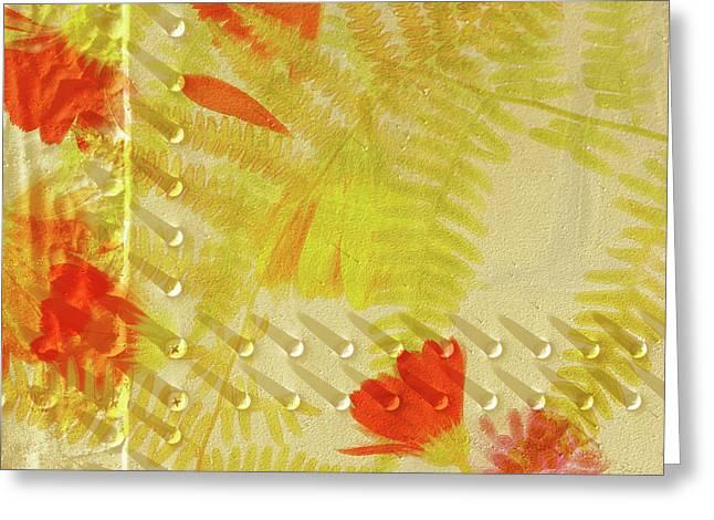 Flower Shower II Greeting Card by Bonnie Bruno