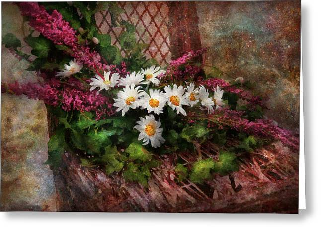 Suburbanscenes Greeting Cards - Flower - Still - Seat Reserved Greeting Card by Mike Savad