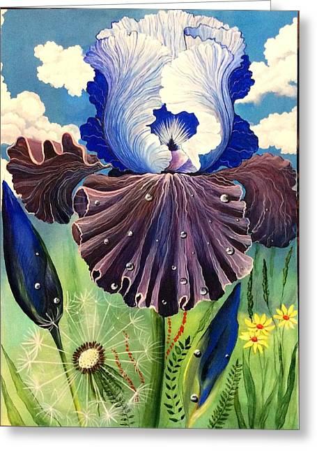 Flowers Jewelry Greeting Cards - Flower Greeting Card by Yana Prados
