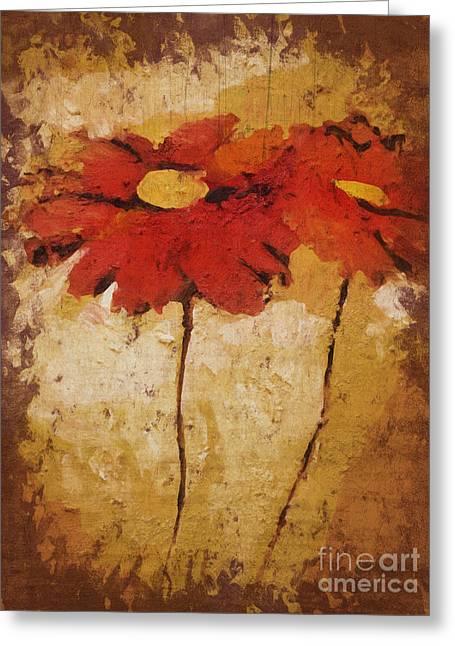 Painted Flowers Greeting Cards - Flowerdraft Greeting Card by Lutz Baar