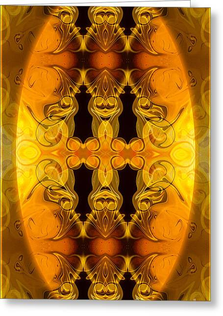 Undecided Greeting Cards - Flowering Energy Centers Abstract Organic Bliss Art by Omaste Wi Greeting Card by Omaste Witkowski