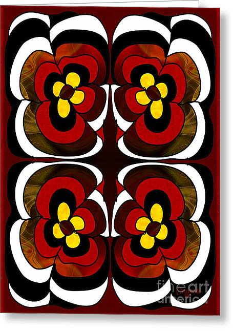 Flowering Fantasies Abstract Bliss Art By Omashte Greeting Card by Omaste Witkowski