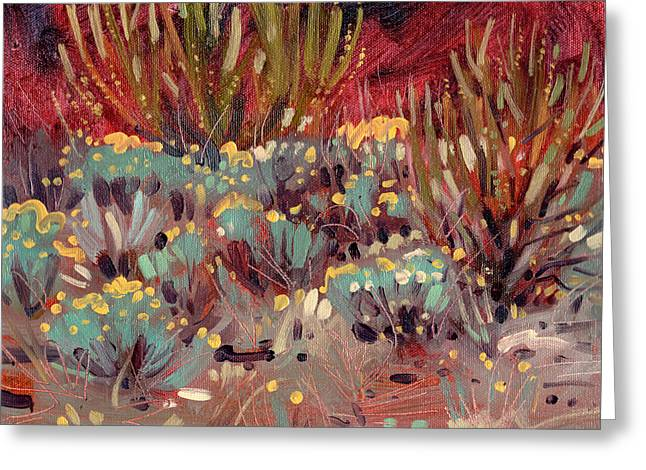 Sagebrush Greeting Cards - Flowering Sagebrush Greeting Card by Donald Maier
