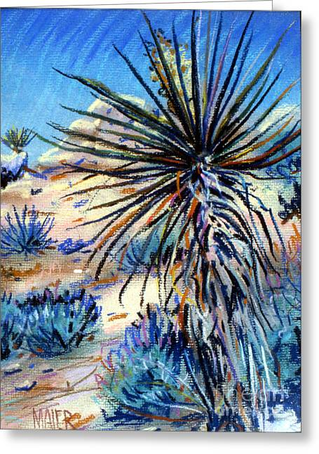Blooms Pastels Greeting Cards - Flowering Yucca Greeting Card by Donald Maier