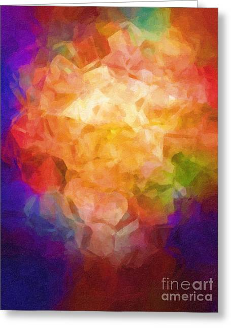 Abstractions Greeting Cards - Flowerpot Greeting Card by Lutz Baar