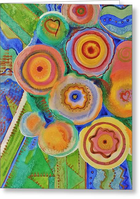 M Bobb Art Greeting Cards - Flowers and Candies Greeting Card by Margaret Bobb