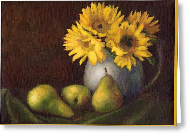 Flowers And Fruit Greeting Card by Janet King