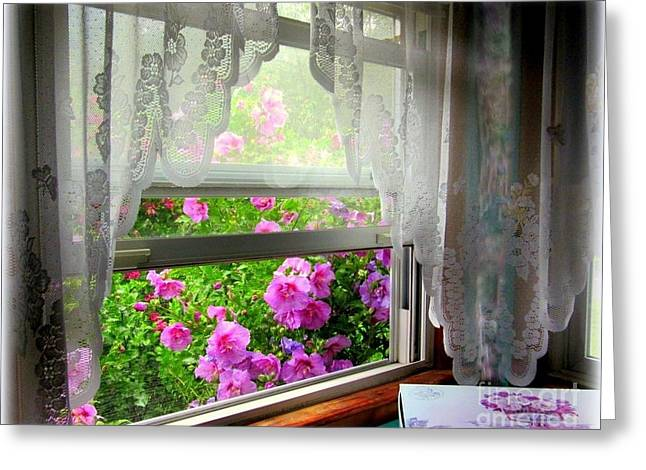 Berkshires Of New England Greeting Cards - Flowers and Lace Greeting Card by Linda Galok
