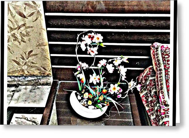 Flowers By My Side Greeting Card by Jagjeet Kaur
