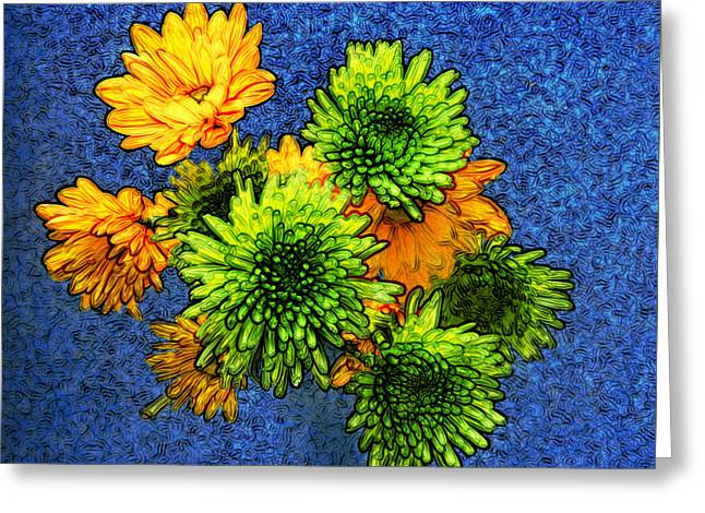 Zinna Greeting Cards - Flowers For Jessica Greeting Card by Bobbie Barth