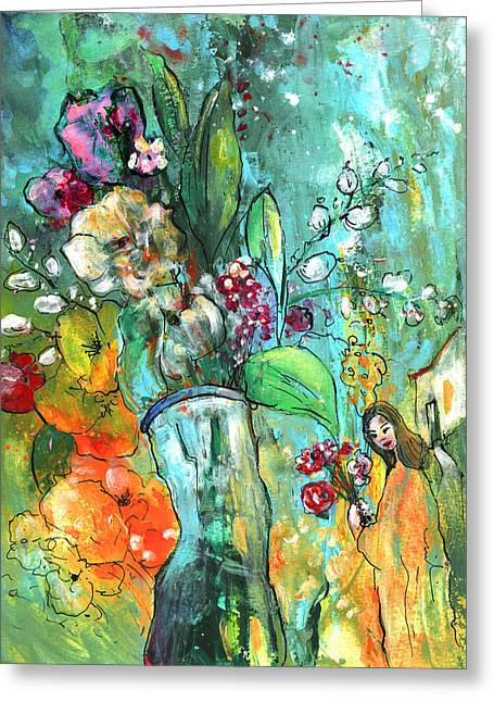 Flowers For You Greeting Card by Miki De Goodaboom
