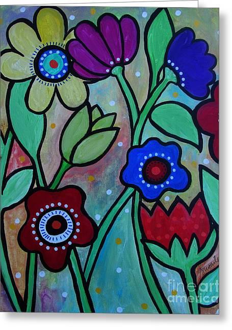 Best Seller Greeting Cards - Flowers In Spring Greeting Card by Pristine Cartera Turkus