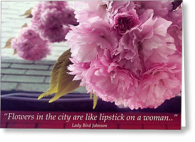 First-lady Digital Art Greeting Cards - Flowers in the City Greeting Card by Katelyn Rose