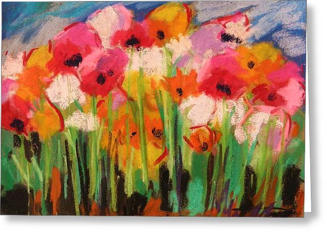 Jmwportfolio Drawings Greeting Cards - Flowers Greeting Card by John  Williams