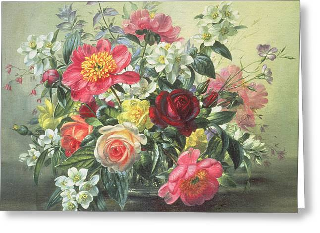 Recently Sold -  - Blooms Greeting Cards - Flowers of Romantic June Greeting Card by Albert Williams