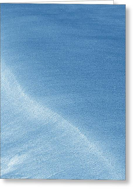 Snow Drifts Greeting Cards - Flowing Blue Greeting Card by Mark Fuller