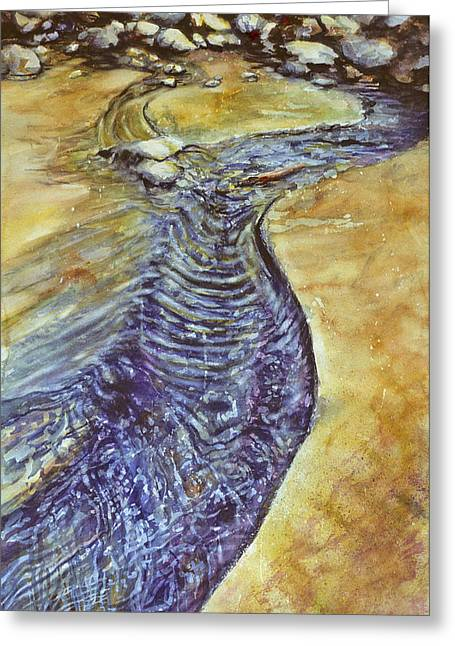 Recently Sold -  - Yang Greeting Cards - Flowing Together  Greeting Card by Catherine Foster